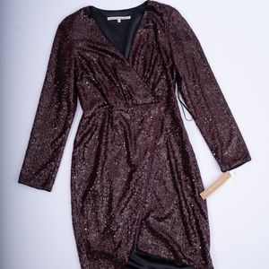 Burgundy Rachel Roy Sequin Dress